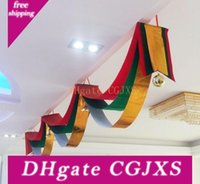 Wholesale shopping mall christmas decorations resale online - Christmas Wave Flag Xmas Ceiling Decoration Corridor Flag Hotel Shopping Mall Home Christmas Decorations Random Color