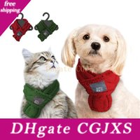 Wholesale designer scarf for winter for sale - Group buy Pet Dog Neck Scarf Warm Soft Knitted Pet Scarf For Small Medium Dogs Winter Accessories Chihuahua Dog Collar Pets Supplies A05
