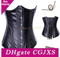 Wholesale waist training corsets resale online - Waist Trainers Womens Hot Selling Sexy Leather Underbust Waist Training Corset With Zipper Corset Bustier Top Waist Cincher