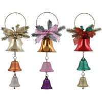 Wholesale bell ornament craft for sale - Group buy Xmas Tree Ornament Christmas Bell Pendant Iron Home Festival Party Wedding Hanging Decoration Kids Toys Crafts Decorative Props