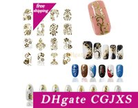 Wholesale fashion nails accessories resale online - 8 d Metal Mix Color Nail Art Stickers Gold Decals Manicure Beautiful Fashion Accessories Decoration