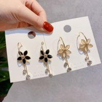 Wholesale online flowers for sale - Group buy 0IEs6 Korean style silver needle Opal flower women s online and celebrity fresh elegant earrings girl versatile earrings