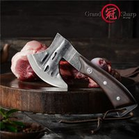 Wholesale butchers knives resale online - Handmade Forged Axe Kitchen Knife Chef Boning Knife Meat Cutter Butcher Tools Fire Hatchet Tactical Tomahawk Axe Outdoor Tools