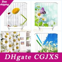 Wholesale beautiful shower curtains for sale - Group buy Custom Beautiful Flowers Shower Curtains Fabric Modern Bathroom Bath Decor Cloth Water Proof Curtain Removable Digital Printing be Ff
