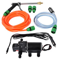 Wholesale 12v electric water pumps for sale - Group buy XTL V A w High Pressure Cleaning Machine Home Automatic Car Washing Machine Portable Electric Brush Car Pump Water Gun