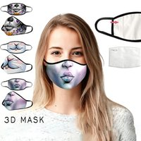 Wholesale respirator mask for dust resale online - Digital print respirator for Halloween clowns skulls with PM2 filters Fashion face Mask Face Mouth Masks Anti Dust washable cotton masks