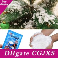 Wholesale artificial snow decorations for sale - Group buy Magic Snow Diy Instant Artificial Snow Powder Simulation Snow Magic Perform Prop Wedding Party Christmas Indoor Decoration