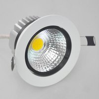 ce directe achat en gros de-Factory Direct Vente 9W / 12W Cob Led Downlight Led encastrements Dimmable vers le bas Lampes AC85 Blanc Froid Blanc Naturel -265v Blanc Chaud