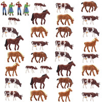 Wholesale paintings animals scenery for sale - Group buy AN8706 Well Painted Farm Animals Cows Horses Figures HO Scale NEW Scenery Landscape Layout