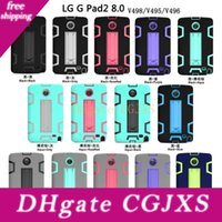 Wholesale heavy duty tablet cover resale online - Military Extreme Heavy Duty Colourful Defender Case Cover For Lg G Pad2 Lg V498 V495 Tablets Cover
