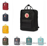 fuchs rucksack schwedisch groihandel-Fjällräven Kanken Klassische Rucksäcke Kinder Frauen Fjallraven Fashion Design Tasche Junior School Canvas Wasserdichtes Swedish Arctic Fox große