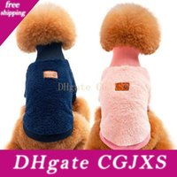 Wholesale sweatshirts for dogs for sale - Group buy New Pet Clothes Hot Turtlenecks Autumn Winter Warm Pet Dog Clothes Dogs Apparel Solid Color Sweater For Teddy Bichon
