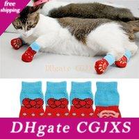 Wholesale wear socks resale online - Creative Cat Coats New Pet Cat Socks Dog Socks Traction Control For Indoor Wear L M S Cat Clothing Multicolor