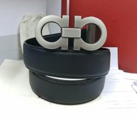 Wholesale mens leather plastic buckle belt resale online - Mens Woman Belt Casual Smooth Buckle Belts Style Optional Width cm High Quality with Box