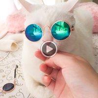 Wholesale sale designer eyewear resale online - 10 Pieces Hot Sale Pet Sunglasses for Cat Small Dogs Eyes Protection Sun Glasses Puppy Photos Props Eyewear Maggie J09Q
