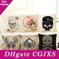 Wholesale cover skull head for sale - Group buy New Skull Head Pillow Case Styles Punk Skeletons Decorative Throw Pillowcase Cushion Cover Not Include Pillow