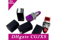 Wholesale smoked purple lipstick for sale - Group buy Lipstick Smoking Pipes Aluminium Alloy Smoking Pipe Red Purple Lipstick Style Portable Tobacco Pipes Fasion Mini Metal Pipes