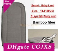 Wholesale Bamboo Fiber Layer Nappy Liners Baby Cloth Diaper Inserts Pads Liner For Cloth Nappies Liners pc