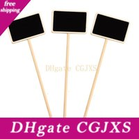 Wholesale chalkboard prices for sale - Group buy Mini Wooden Chalkboard Label Creative Party Blackboard Memo Tags Plants Flowers Price Tag Wedding Garden Decorations Message Card Bh2349 Zx