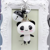 Wholesale stroller baby doll for sale - Group buy Creative cute two color Bell doll key chain bag pendant DIY Pendant stroller Diy baby carriage accessories women s and children s car small