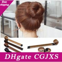 Wholesale head bands wig for sale - Group buy Diy Tool Hair Synthetic Wig Donuts Bud Head Band Ball French Twist French Magic Bun Maker Sweet Hair Braiders