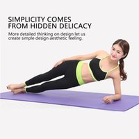 Wholesale physio yoga resale online - 10MM Non Slip Yoga Mat Exercise Workout Fitness Physio Gym Cushion non slip Fitness Pad Yoga Equipment Indoor Sport Product