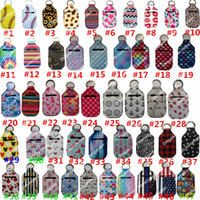 30ml Hand Sanitizer Holder Keychain Party Favor Mini Bottle Cover Square 195 Colors