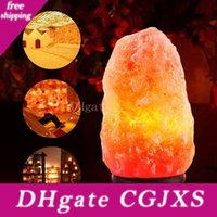 Wholesale rock salt for sale - Group buy Himalayan Salt Lamp Natural Ionic Rock Crystal Salt Light Air Purifier Dimmer With Dimmer Switch Ac v