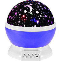 Wholesale rotating star moon lamp resale online - Cgjxsbest Seller Romantic New Rotating Star Moon Sky Rotation Night Projector Light Lamp Projection With High Quality Kids Bed Lamp