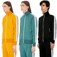 Wholesale yellow running sets resale online - Men fashion Sportswear Hoodie And Sweatshirts Autumn Winter Jogger Suit Mens outdoor Tracksuits Set