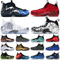 Wholesale penny floor resale online - 2020 New penny hardaway shoes Foam basketball shoes Black Aurora Alternate Galaxy Doernbecher CNY Chrome White Mens high top sneakers