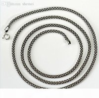 Wholesale 925 italy silver necklace resale online - Real Pure Sterling Silver necklace Women men Italy chain retro vintage brand Jewelry MLD307