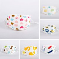 Wholesale girls boy love cartoon for sale - Group buy Love Little dinosaur duck Luxury printing Party Children Boy Girls Cartoon Designer Face Masks Kids Anti Dust Washable cotton Reusable Masks