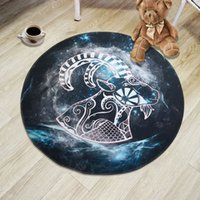 Wholesale round end tables for sale - Group buy Fashion cartoon design new style D printed crystal velvet round constellation cartoon chair end table wash carpet floor mat