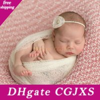 Wholesale blanket sales resale online - New Creative Newborn Hollow Out Photo Prop Wrapping Towel Wrap Knit Infant Blanket Posing Swaddle Baby Photograph Scarf Hot Sale xd