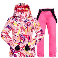 Wholesale thermal suits for winter resale online - Women Ski Suit Ski Jacket and Pants for Women Thermal Winter Warm Waterproof Windproof Skiing and Snowboarding Suits Coat