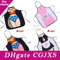 Wholesale sexy apron home kitchen for sale - Group buy Swordsman Sexy Man Women Apron Maid Printed Personality Home Cooking Baking Party Funny Cleaning Gift Aprons Kitchen Accessories yq Ff
