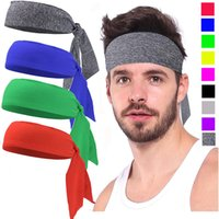 Wholesale head bands wig resale online - Fashion Head Band Bandeaux Put Knots Polyester Fabrics Muticolor Elastic Hairband Lady Men Fit Supplies Tennis Cycling gy C2