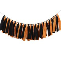 Wholesale Halloween Style Creative Bunting Garland Flags Bunting Indoor Garden Outdoor Decoration Flags Banner Bunting for Festival Party