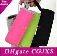 Wholesale water pouches sports for sale - Group buy Neoprene Water Bottle Cover Sport Water Bottle Cover Neoprene Insulator Sleeve Bag ml Portable Vacuum Cup Pouch