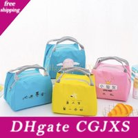 Wholesale kids girls designer totes for sale - Group buy Lunch Bag For Women Girl Kids Children Cartoon Cute Thermal Insulated Lunch Box Tote Container Picnic Bag Milk Bottle Pouch Lx1823