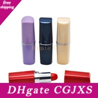Wholesale pipes snuff resale online - Lipstick Shape Pill Bottle Snuff Snorter Stash Pill Box Pill Case Hookah Smoking Pipe for Dabs Rigs Container Plastic Bins Box cm