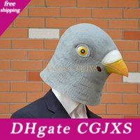 Wholesale latex rubber costume for sale - Group buy Hot Gray Creepy Dove Mask Head For Halloween Party Decorations Costume Theater Prop Novelty Latex Rubber Halloween Dove Mask