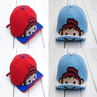 Wholesale monkey hat for sale - Group buy cocoinkids hat children s cartoon soft tongue cap Monkey tongue turning cartoon hat children s soft tongue cap