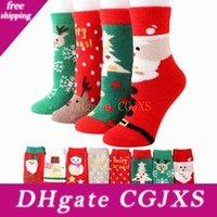 Wholesale thick towel socks resale online - Ladies Thick Towel Coral Velvet Socks Old Man Warm Half Velvet Adult Christmas Stockings Thickened Indoor Socks Zza1294