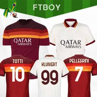 Wholesale uniforms shirts quick dry resale online - 2020 DE ROSSI DZEKO ZANIOLO soccer jersey rome TOTTI PEROTTI jersey football shirt roma maillot de foot Men Kids sets uniforms