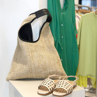 Wholesale big woven beach bags for sale - Group buy Casual rattan buckets bag for women bohemian wicker woven shoulder bags lady handbag large capacity totes summer beach big purse