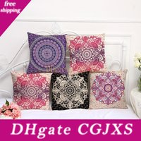 Wholesale ethnic designs for sale - Group buy Retro Floral Designs Pillow Case Bohemian Bed Flower Pillowcover Cotton Linen Ethnic Car Pillow Cover Bedroom Sofa Throw Cushion Dropship