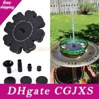 Wholesale outdoors water fountains for sale - Group buy Eco Friendly Flower Shaped Solar Power Fountain Birdbath Water Floating Outdoor Pool Garden Park School Family Daily Decoration
