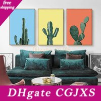 Wholesale landscapes for canvas painting for sale - Group buy 2018 Cactus Plants Wall Paintings Landscape Art Canvas Posters Prints Painting Wall Pictures For Bedroom Home Decoration